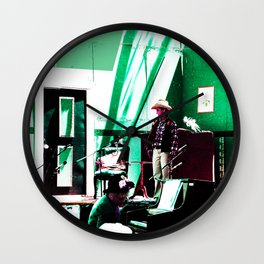 Melodrama in Modern Times - Green Wall Clock