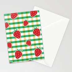 Strawberries On My Mind - G+P Gingham Stationery Cards