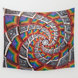 Tunnel To The Moon Wall Tapestry