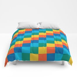 Color me happy - Pixelated Pattern in bright colors Comforters