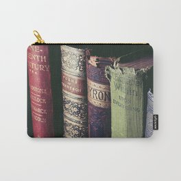 Vintage low light photography of books Carry-All Pouch