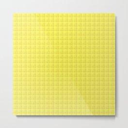 Yellow Check Metal Print