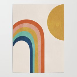 The Sun and a Rainbow Poster