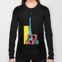Shapes of Paris. Accurate to scale. Long Sleeve T-shirt