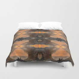 The Sun Always Shines Behind The Clouds Duvet Cover