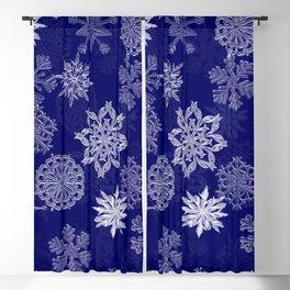Snowflake Pattern (Blue) Blackout Curtain