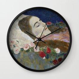 RIA ON HER DEATHBED - GUSTAV KLIMT Wall Clock