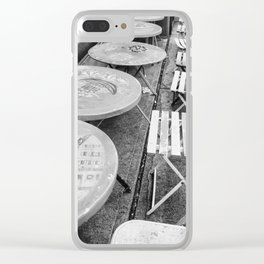 Paris Cafe in Black & White Clear iPhone Case