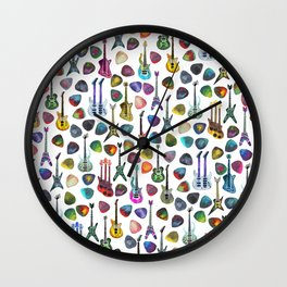Guitars and Picks Wall Clock
