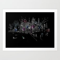 London Soho Madness Art Print
