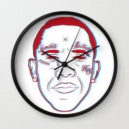 3D barack Wall Clock