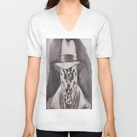 rorschach V-neck T-shirts featuring Rorschach  by Taylor Starnes