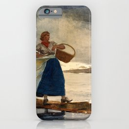 Winslow Homer1 - Inside The Bar - Digital Remastered Edition iPhone Case