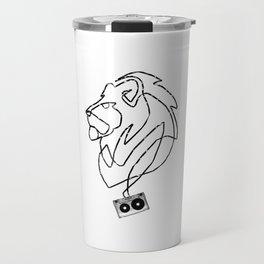Lion Tape Art Travel Mug