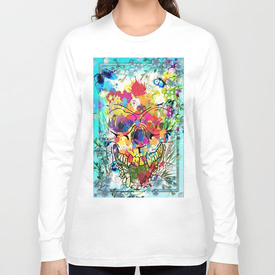 Skull Botonical Long Sleeve T-shirt