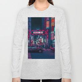 Cyberpunk Tokyo Street Long Sleeve T-shirt