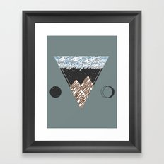 Cold Mountains Framed Art Print