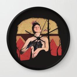 Temptation to kneel Wall Clock
