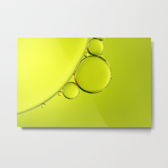 Simply Lime Metal Print
