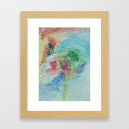 nuclear chernobyl watercolor 2 Framed Art Print