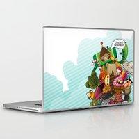 katamari Laptop & iPad Skins featuring Chestnut Katamari by Ed Warner