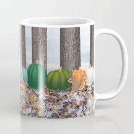 fox squirrels, heirloom pumpkins, & acorns Coffee Mug