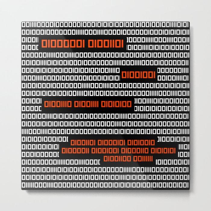 AM I NOT MERCIFUL? - Binary Code Metal Print