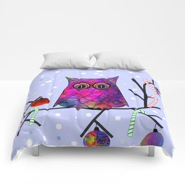 The Festive Owl Comforters