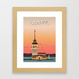 Istanbul Illustration Framed Art Print