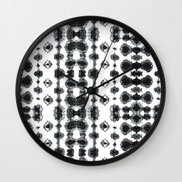 Shibori Ikat Habotoi BW Wall Clock