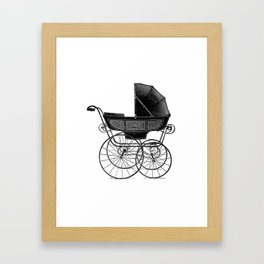 Baby carriage Framed Art Print