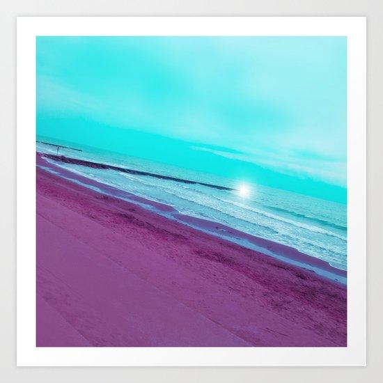 SEA ABSTRACTION Art Print