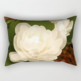 Double Bloodroot Rectangular Pillow