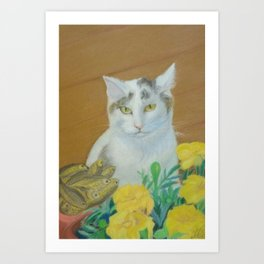 Cat (The Winner) Art Print