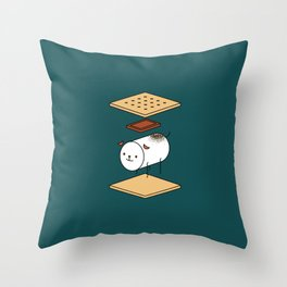 a very good s'more Throw Pillow