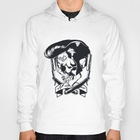 rock n roll Hoodies featuring Rock n roll skull by Shulyak Brothers