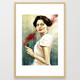 The Woman Framed Art Print