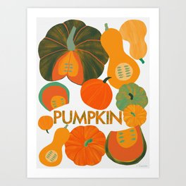 Eat Your Veggies - Pumpkin Art Print