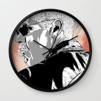 sons of anarchy Wall Clocks featuring Sons of Anarchy - Clay Morrow by Averagejoeart