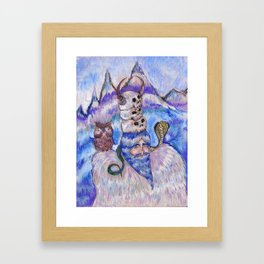 Guard of the Sacred Mountains  Framed Art Print