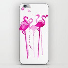 Flamingo Stirrers iPhone Skin