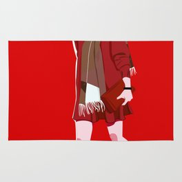 Lady in Red Rug