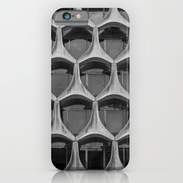 Façade of the modernist BNP Paribas Building in Brussels by architect Marcel Lambrichs  iPhone Case