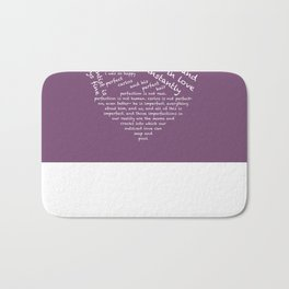 Quotes of the Heart - Cecilos (White) Bath Mat