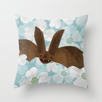 virginia Throw Pillows featuring Virginia by Santiago Uceda