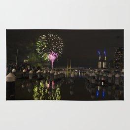Fireworks at Docklands, Australia Rug