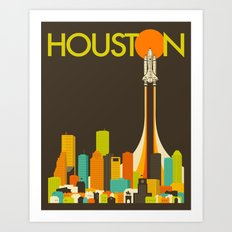 HOUSTON TRAVEL POSTER Art Print