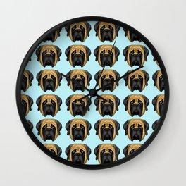 Apricot Mastiff Wall Clock