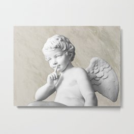 Ancient Sculpture Angel Decor Metal Print
