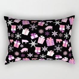 Piggy Pattern Presents Rectangular Pillow
